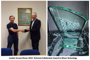 London Survey Dinner Technical Collaborator Award(2015)